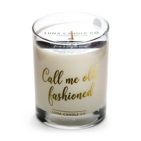 Call Me Old Fashioned, Fine Bourbon Scented Soy Wax Candle