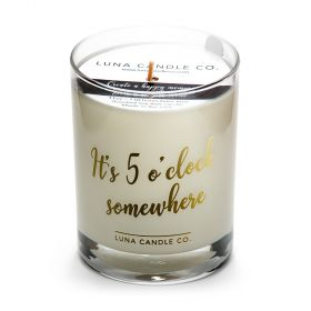 Fine Bourbon Scented Soy Wax Candle- It's Five O'clock Somewhere
